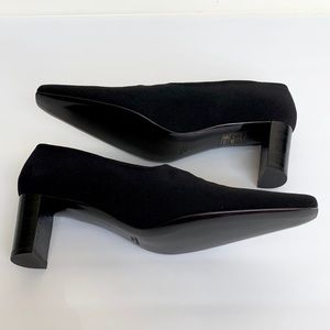 Robert Clergerie Shoes - Vintage ROBERT CLERGERIE Black Fabric Heels